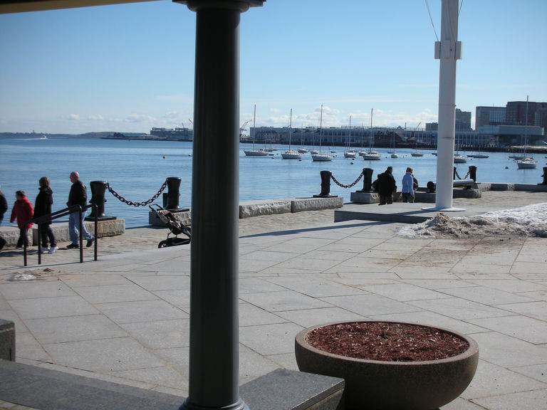 view of harbor from shade pavilion (that would become a restaurant)