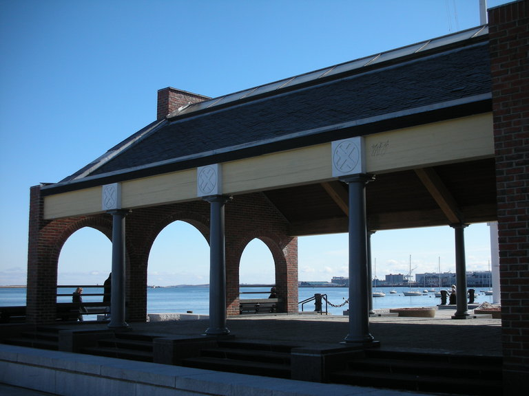 looking southeast through shade pavilion (that would become a restaurant)